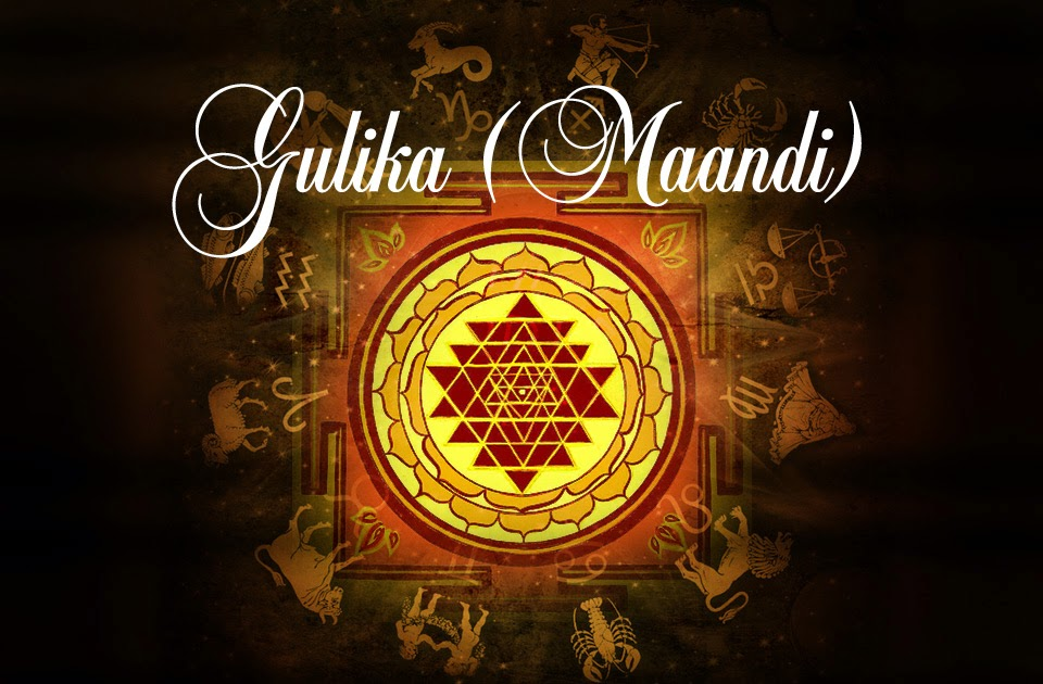 Gulika Maandi Vedic Astrology Blog Indian Astrology Blog
