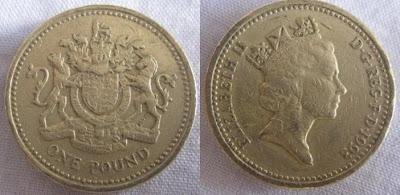 england one pound 1993