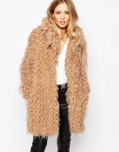 supertrash furry coat, brown furry coat,
