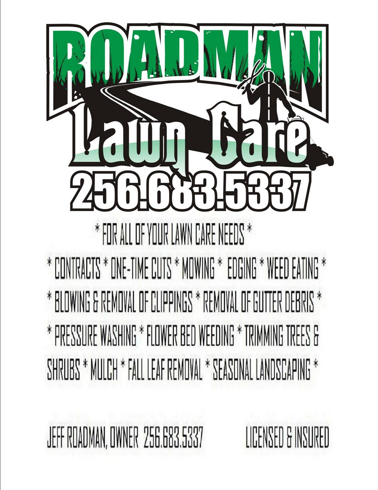 roadman lawn care posted by roadman lawn care at 7 23 am no comments