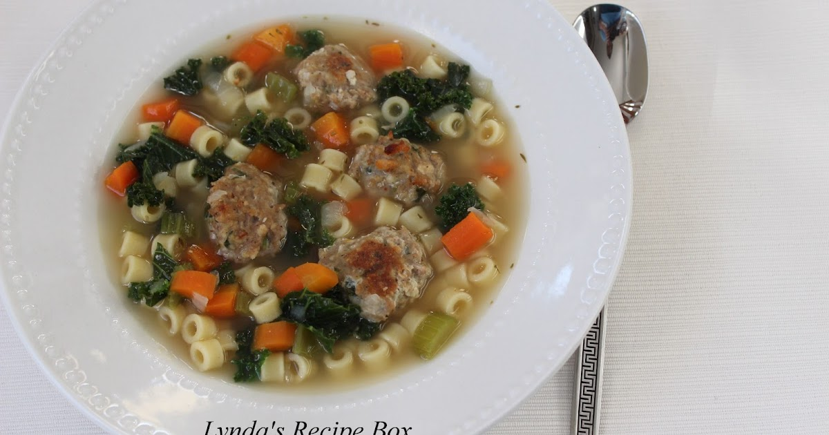 Lynda S Recipe Box Italian Wedding Soup From Ina Garten