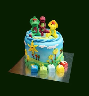 Barney Birthday Cake Decoration