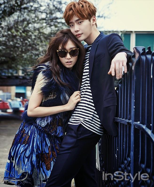 Park Shin Hye Lee Jong Suk - InStyle Magazine April Issue 2015