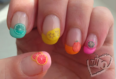 colorful fruit fimo kawaii cute easy nail design art gel