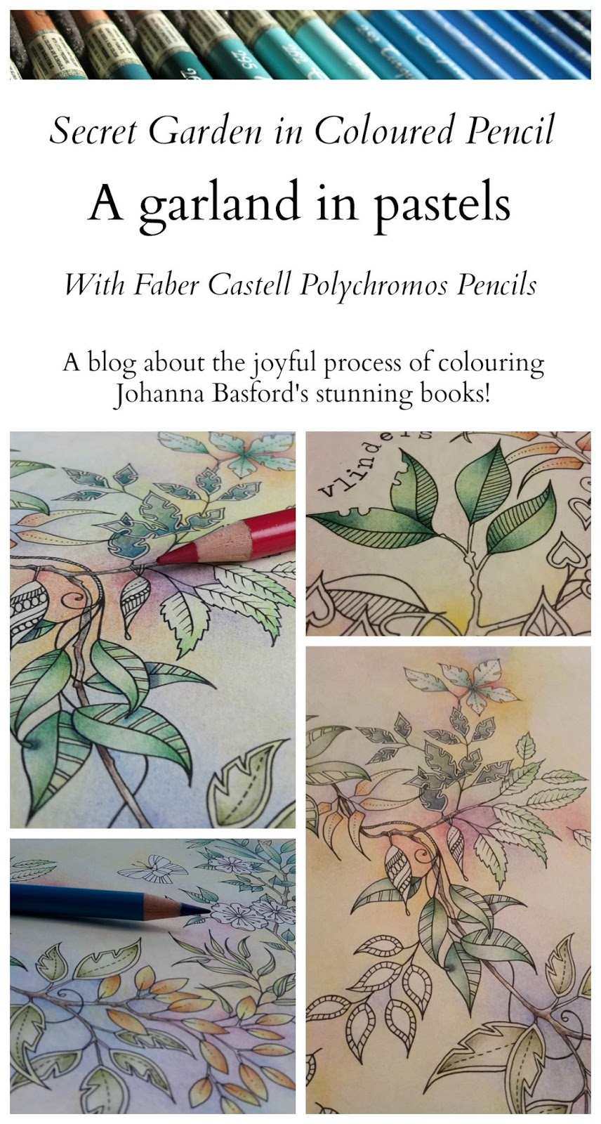 One Of My Favourite Double Pages Im Currently Colouring Is A Drawing From Secret Garden Which I Call Garland In Pastels It Page