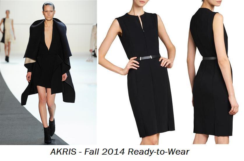 Akris Front-Double-Face-Dress - AKRIS Fall 2014 Ready-to-Wear