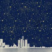 Stary Night City Light