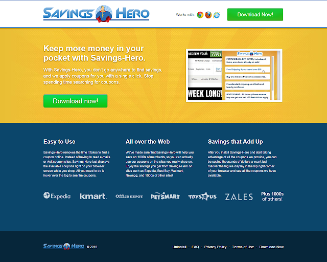 Savings Hero Adware