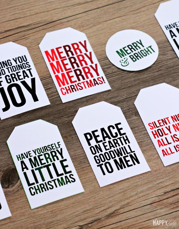 Printable Christmas Gift Tags │ thehappytulip.com