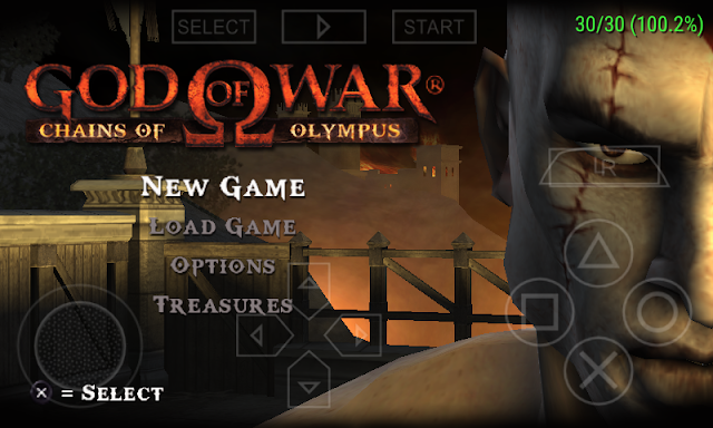 setting game god of war ppsspp