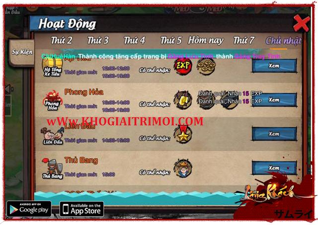 Sự kiện Online Nhận Thưởng - Quà Độc Không Tưởng trong game Lãng Khách