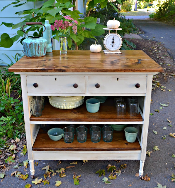 Kitchen Island Made From Antique Buffet: Heir And Space: An Antique Dresser Turned Kitchen Island