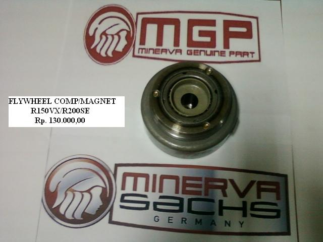 MAGNET (FLYWHELL) MOTOR MINERVA R150VX R200SE Harga Rp. 130.000,-