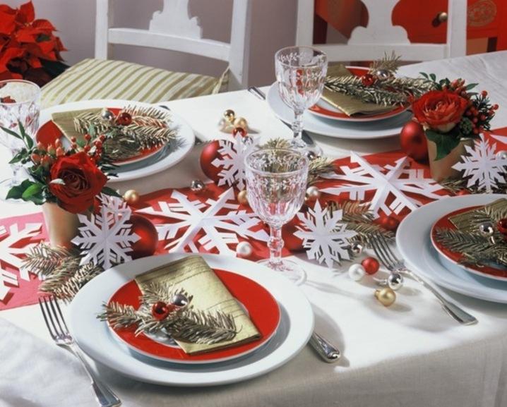 Сервировка новогоднего стола своими руками с фото