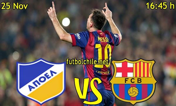 Apoel vs Barcelona - Champions League - 16:45 h - 25/11/2014