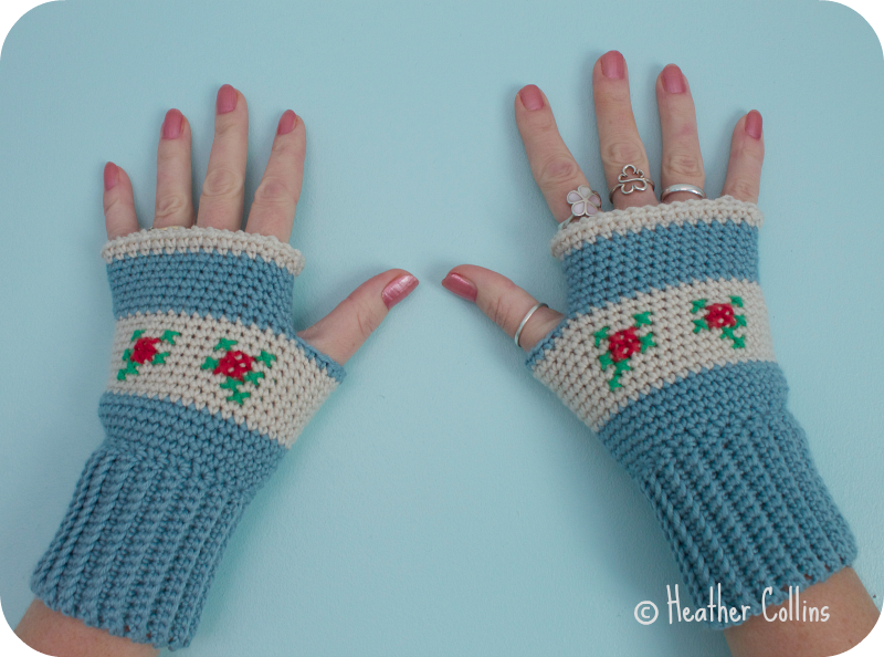 Rosie Mitts Crochet Pattern
