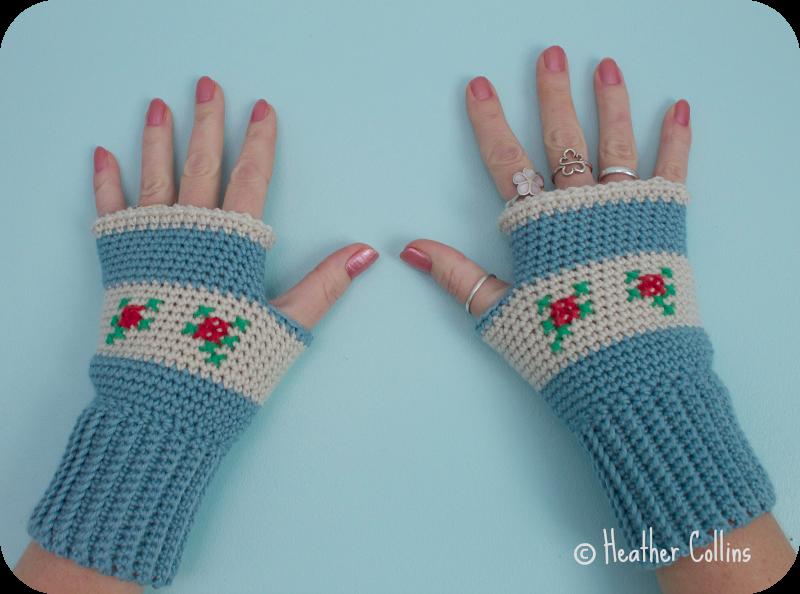 Rosie Mitts Crochet Pattern