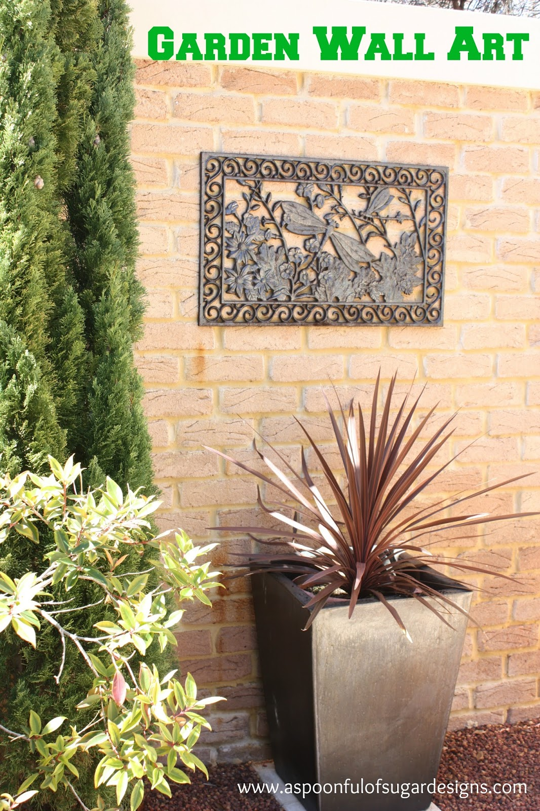 If You Are Wanting A Quick Project To Jazz Up Your Outdoor Space For  Spring, This Quick Garden Wall Art Makes A Big Impact. You Simply Paint A  Cast Iron ...
