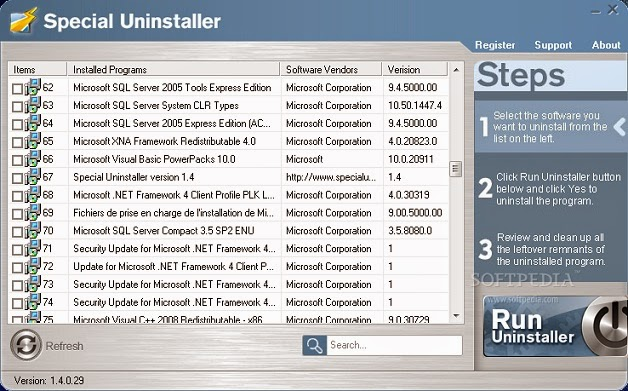 Special Uninstaller 3.0.3 screenshot