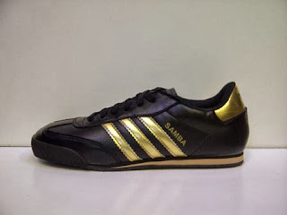 grosir Adidas Samba hitam lis gold