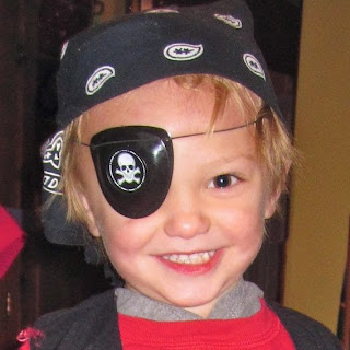 grandson dressed as a pirate