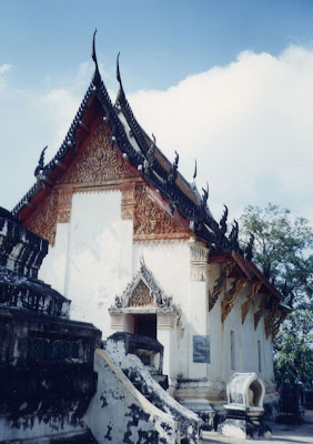 Petchburi City Thailand 500 year-old library