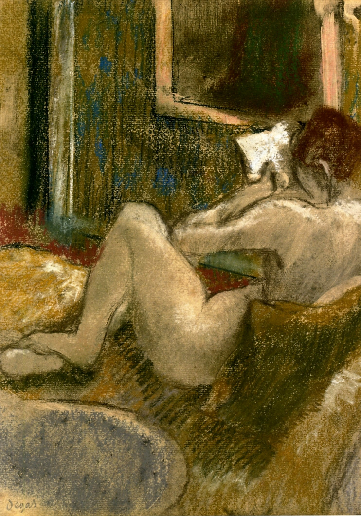 Degas, Edgar - Nude from the rear reading