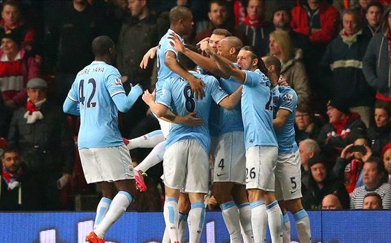 Hasil Skor Manchester United vs Manchester City 26 Maret 2014 - Derby Manchester Milik City