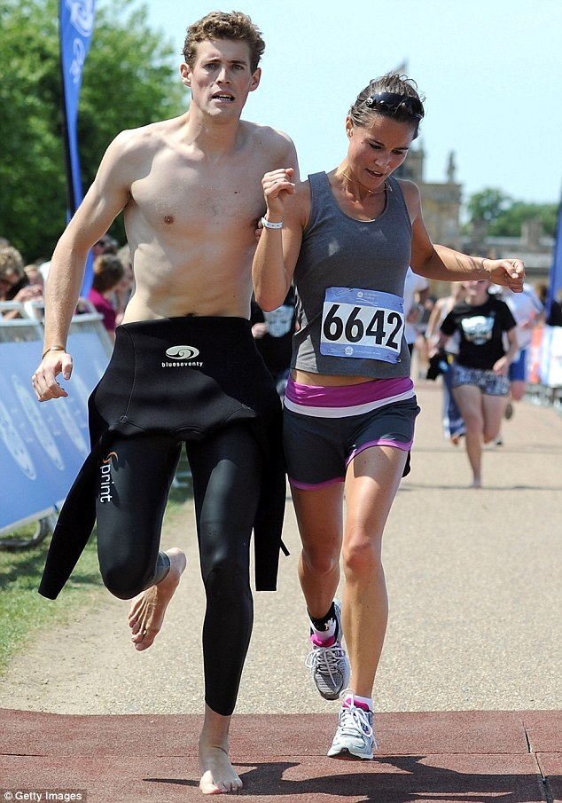 Her Royal Even Hotterness! Helping Pippa over the finish line... Britain's luckiest man