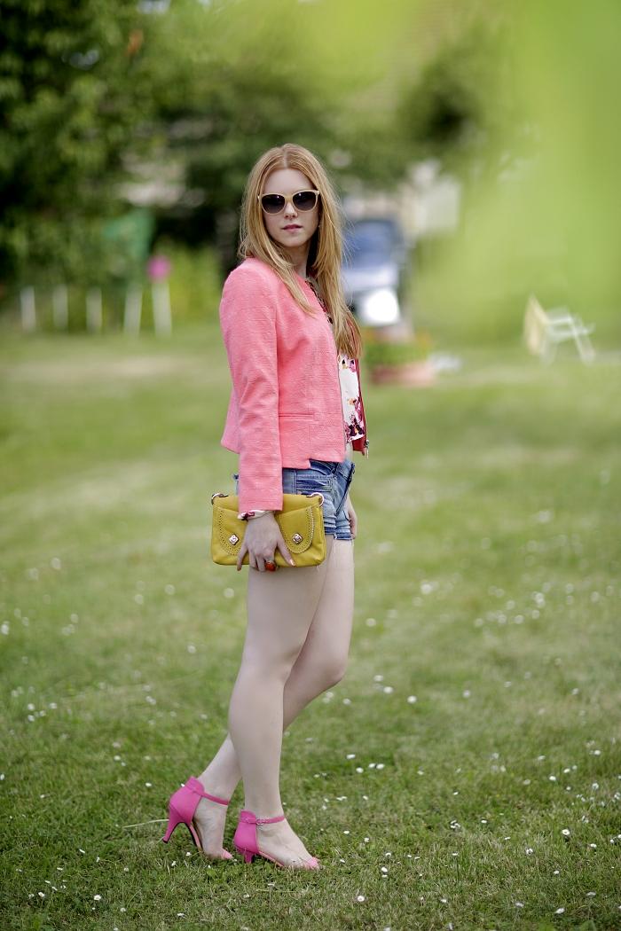 Lucie Srbová, salmon jacket, zara, lososová bundička, she likes