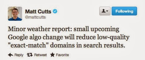 Matt Cutts Exact Match Domain Names