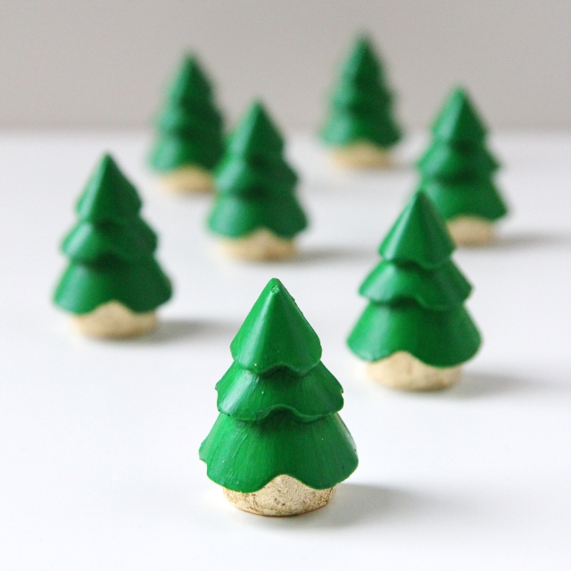 DIY MINI PLASTER CHRISTMAS TREE DECORATIONS  Gathering Beauty