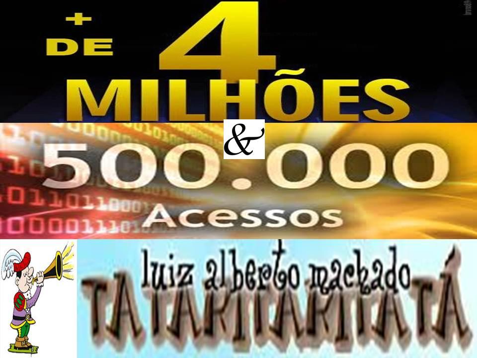 MAIS DE 4 MILHÕES & 500 MIL ACESSOS!!!!