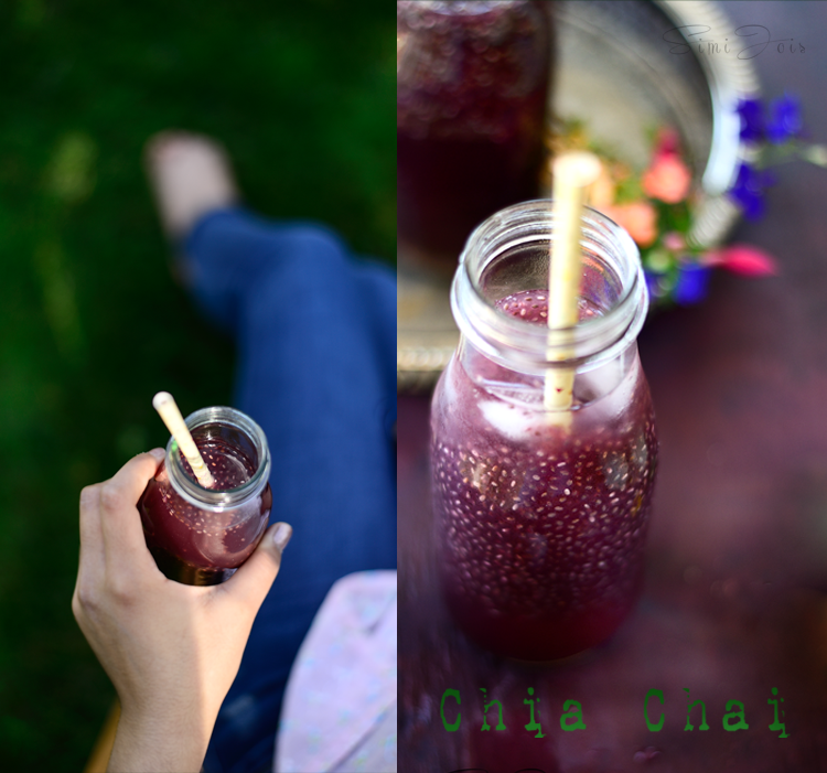 #BlueberryHibiscusChiaChai #ChiaChai #IcedTea #SummerBeverage #FoodPhotography #SimiJoisPhotography