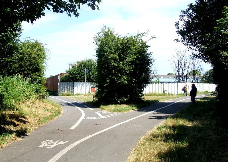 Trackbed at Stokes Bay triangle Lear Road