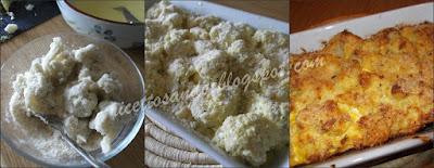 Sformato di cavolfiori ricetta vegetariana di verdura gratinata a forno