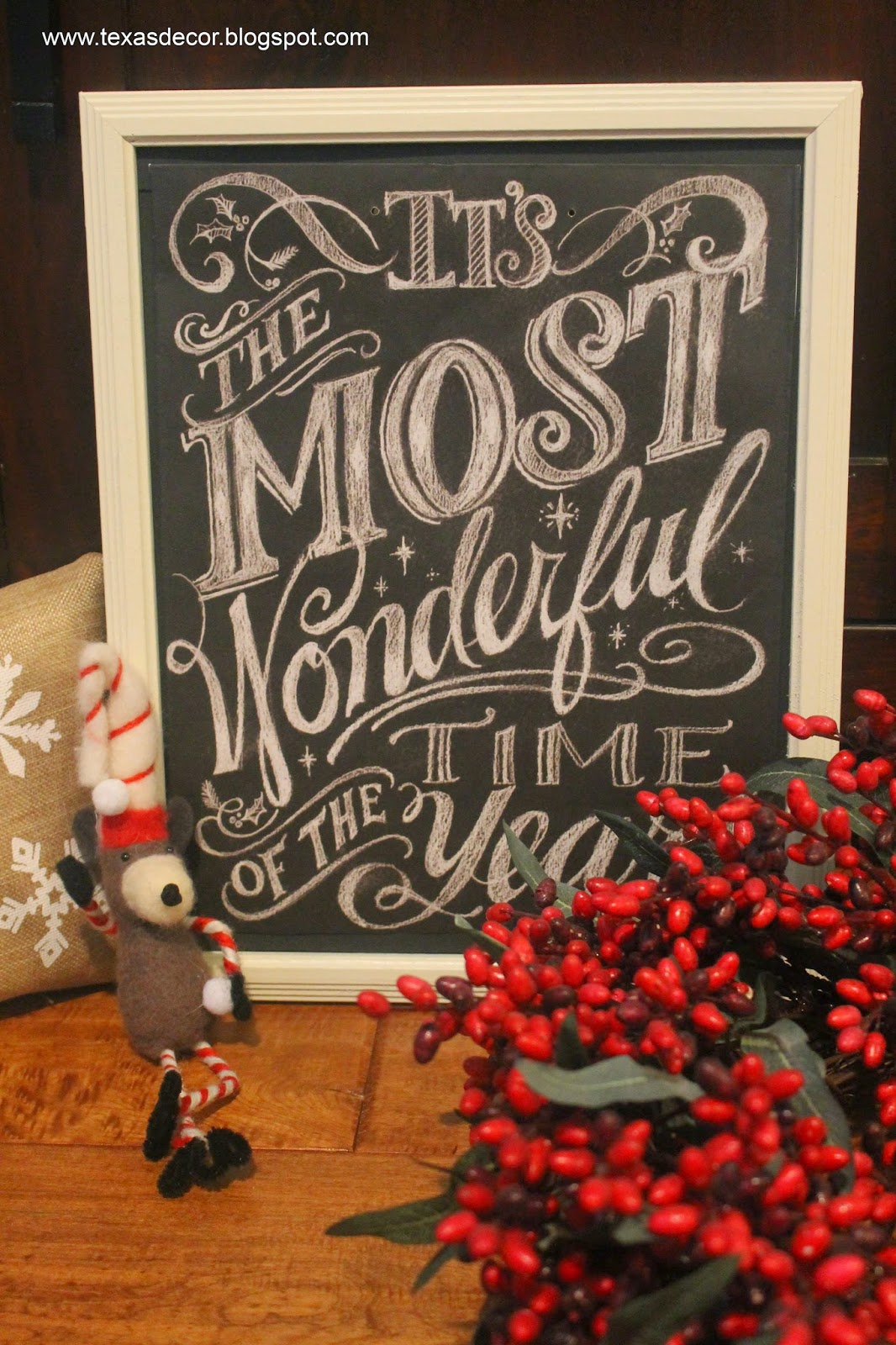 christmas chalkboard print for one dollar