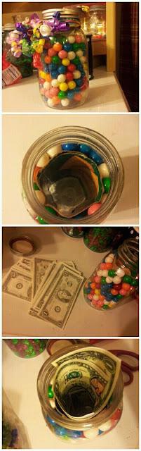 pote de doces com dinheiro