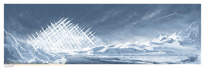 Mondo x DC Comics Screen Print Series - The Fortress of Solitude Screen Print by JC Richard