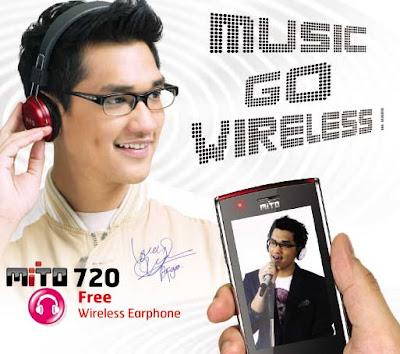 Mito 720 HP Musik wireless headphone plus TV harga murah
