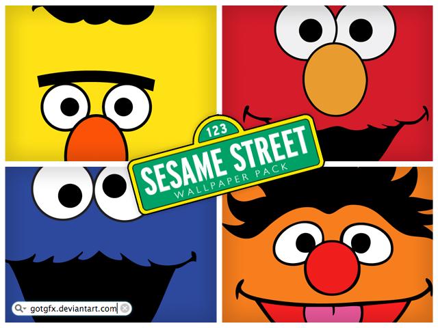 sesame street wallpaper. sesame street :)