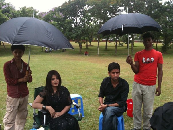 Moushumi at shooting spot