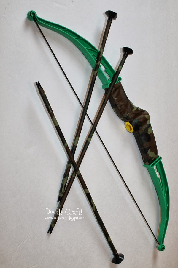 how to make a cheap bow and arrow