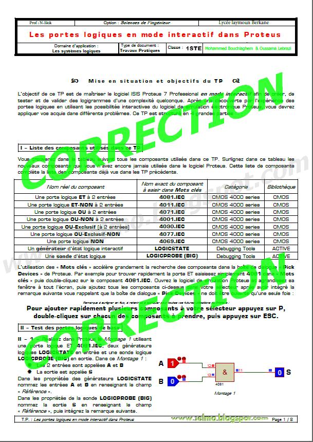 3elmo 2014 for Portes logiques pdf