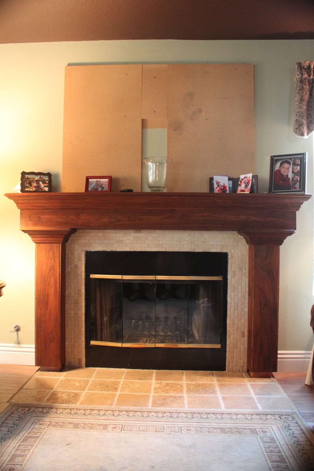 except for the actual fireplace all the tile and woodwork i did myself the wood is black walnut you 039 re probably asking quot what the hell is going on with