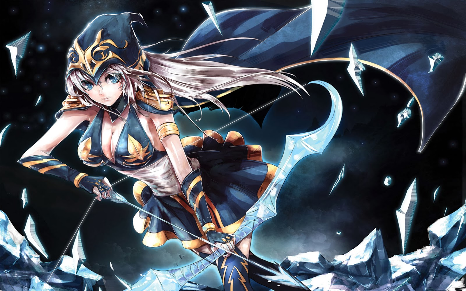 Ashe Leauge of Legends Anime Style j5 Wallpaper HD