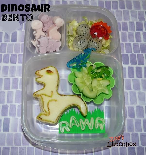 dinosaur easylunchboxes bento