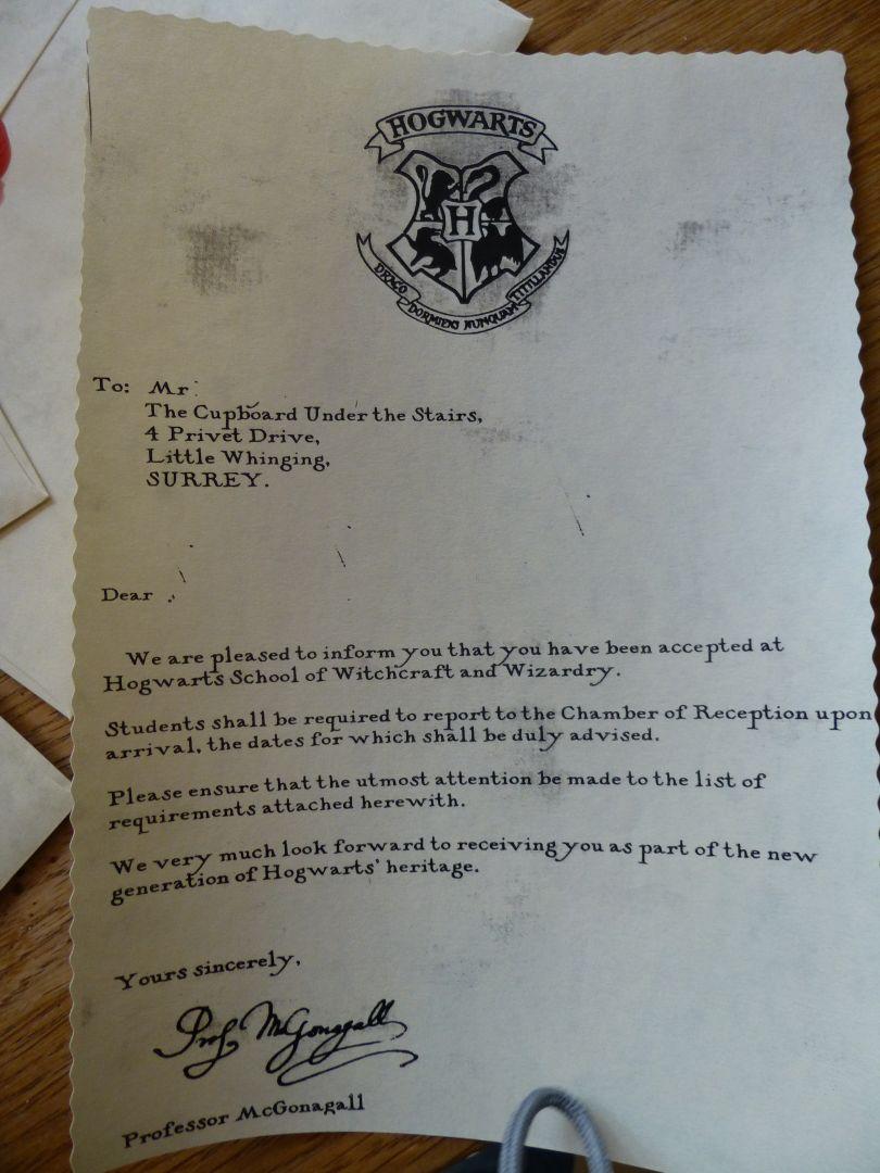 x-spiration: harry potter Übernachtungsparty, Einladung