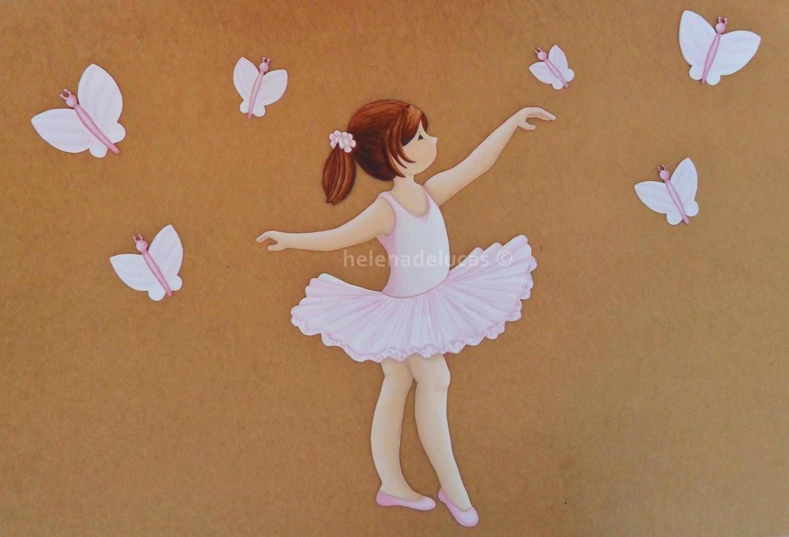 cuadros infantiles bailarinas ballet