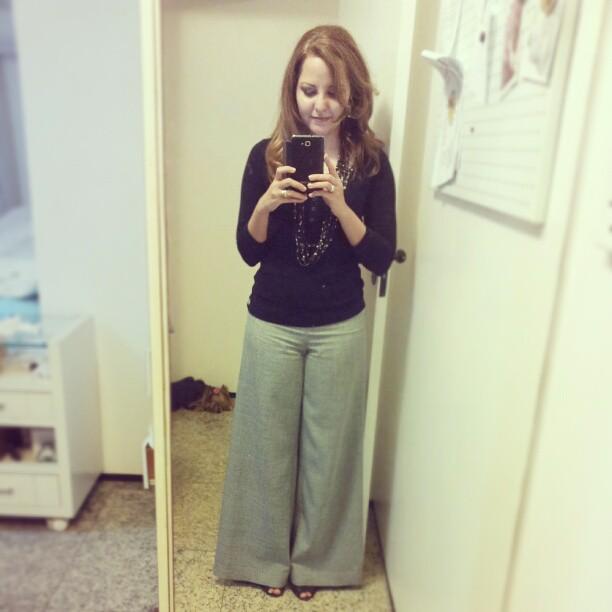 moda estilo costura moldes pantalonas calças look do dia